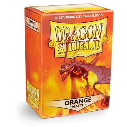 Dragon Shield - Matte Orange - Standard (100 bustine) Bustine Protettive