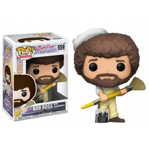 Funko Pop 559 - Bob Ross with Paintbrush - Bob Ross the Joy of Painting Funko 12,90 €