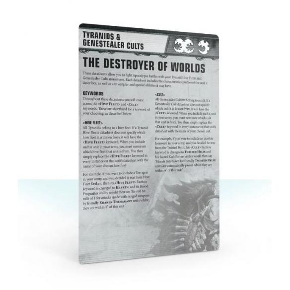 Apocalypse - Datasheet Cards - Tyranids & Genestealer Cults (ENG) Apocalypse
