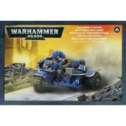 Space Marines - Attack Bike Space Marines