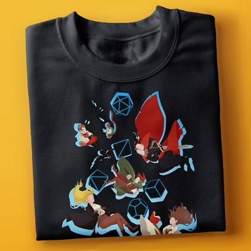 T-shirt Falling Luxastra - Nera InnTale