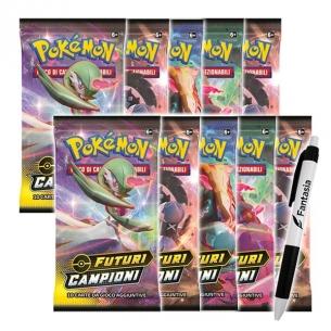 Futuri Campioni - 10 Buste Pokemon (ITA) + Penna Fantàsia (Bundle) Bustine Singole