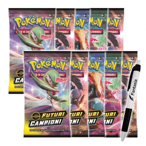 Futuri Campioni - 10 Buste Pokemon (ITA) + Penna Fantàsia (Bundle) Box di Espansione