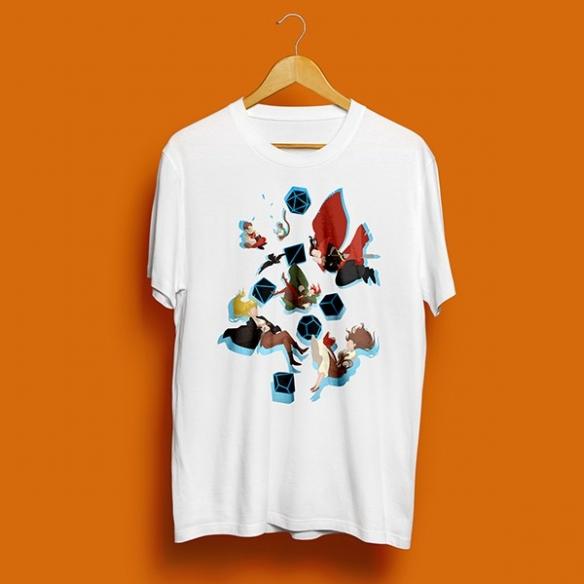 T-shirt Falling Luxastra - Bianca InnTale