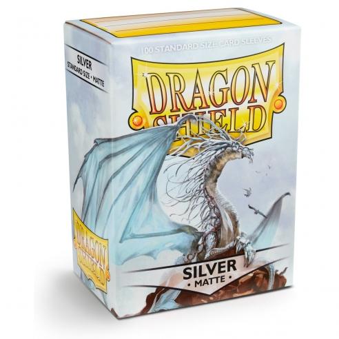 Dragon Shield - Matte Silver - Standard (100 bustine) Bustine Protettive