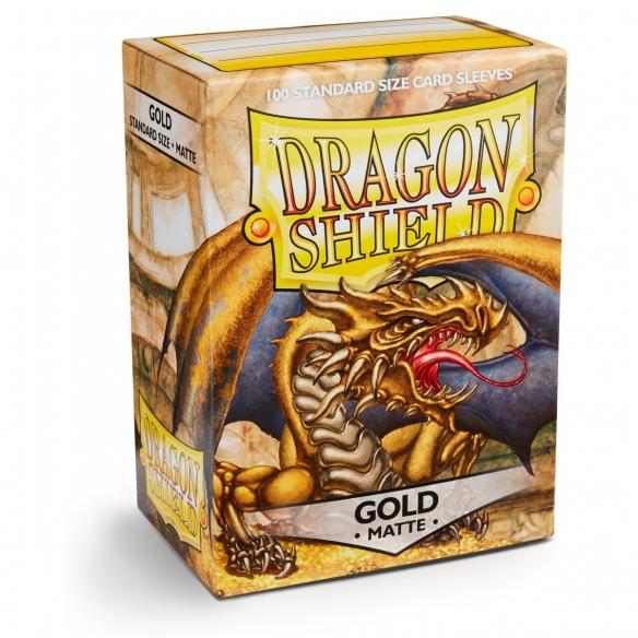 Dragon Shield - Matte Gold - Standard (100 bustine) Bustine Protettive