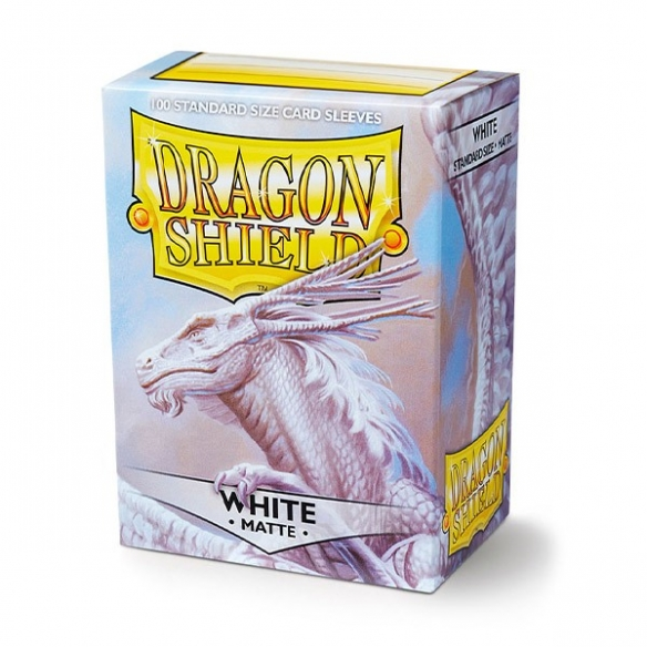 Dragon Shield - Matte White - Standard (100 bustine) Bustine Protettive