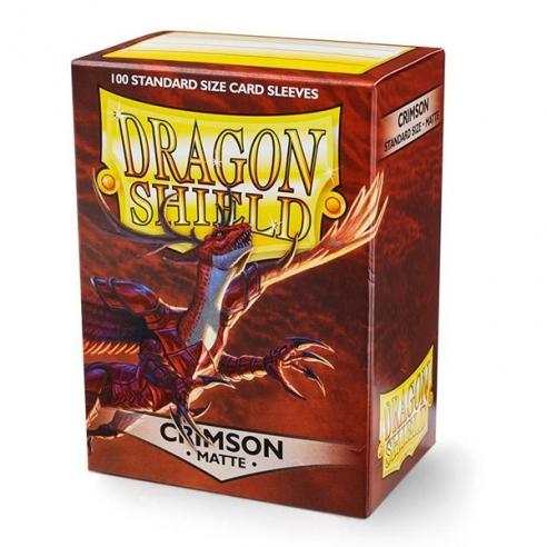 Dragon Shield - Matte Crimson - Standard (100 bustine) Bustine Protettive