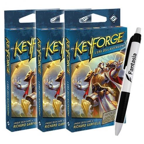 Keyforge - Era dell'Ascensione - 3 xMazzi + Penna Fantasia Keyforge
