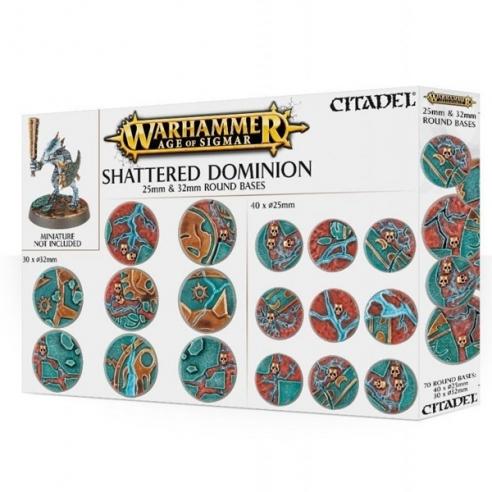 Basette - Shattered Dominion (rotonde da 25mm e 32mm) Basette ed elementi scenici