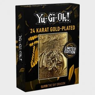 Yu-Gi-Oh! Carta 3D Placcata in Oro 24 Carati - Slifer il Drago Del Cielo (Edizione Limitata) Altri Prodotti