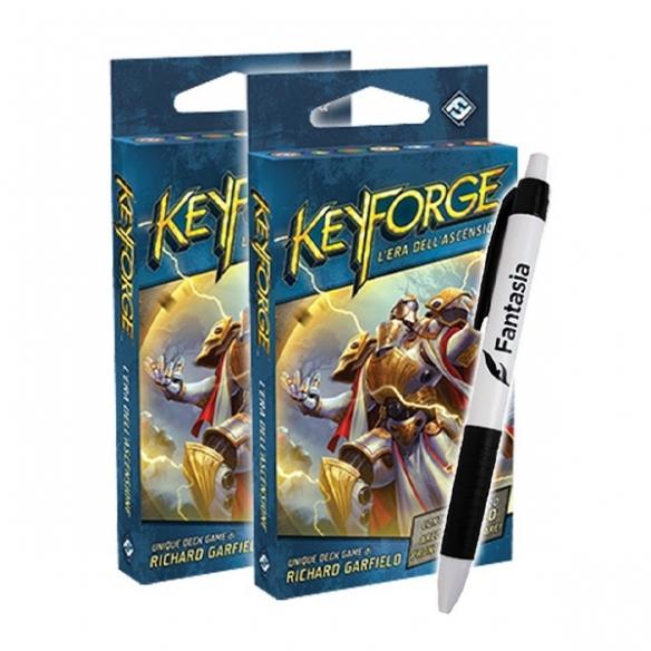Keyforge - Era dell'Ascensione - 2x Mazzi + Penna Fantasia Keyforge