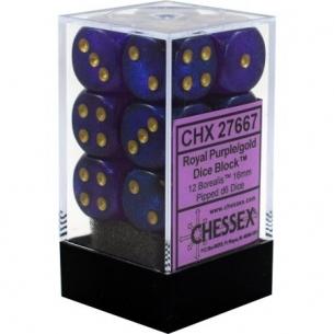 Set d6 Borealis Royal Purple/gold - Chessex CHX 27667 Chessex 8,90€