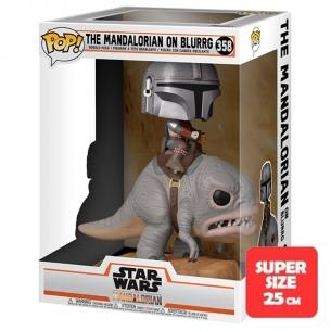 Funko Pop 358 - The Mandalorian on Blurrg - Star Wars The Mandalorian (25cm) Funko