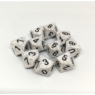 Set d10 Speckled Artic Camo - Chessex CHX 25111  - Chessex 7,90 €