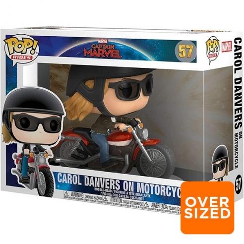 Funko Pop Rides 57 - Carol Denvers on Motorcycle - Captain Marvel (Oversized) Funko