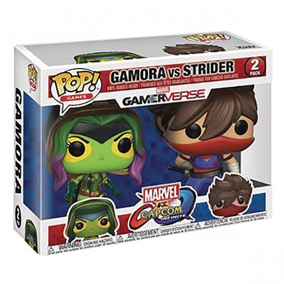 Funko Pop Games 2 Pack - Gamora vs Strider - Marvel vs Capcom Infinite Funko