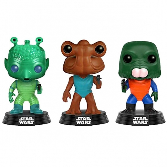 Funko Pop 3 Pack - Greedo, Hammerhead & Walrus Man - Star Wars (Exclusive) Funko