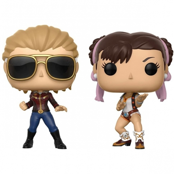 Funko Pop Games 2 Pack - Captain Marvel vs Chun-li - Marvel vs Capcom Infinite Funko