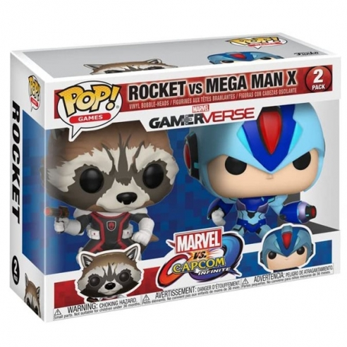 Funko Pop Games - Rocket vs Mega Man X - Marvel vs Capcom Infinite Funko