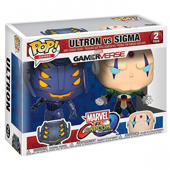Funko Pop Games 2 Pack - Ultron vs Sigma - Marvel vs Capcom Infinite Funko