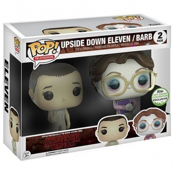 Funko Pop Television 2 Pack - Upside Down Eleven & Barb - Stranger Things (Funko 2017 Spring Convention Exclusive) Funko