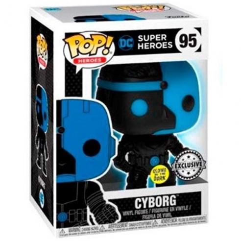 Funko Pop Heroes 95 - Cyborg - DC Super Heroes (Glows in the Dark) (Exclusive) Funko