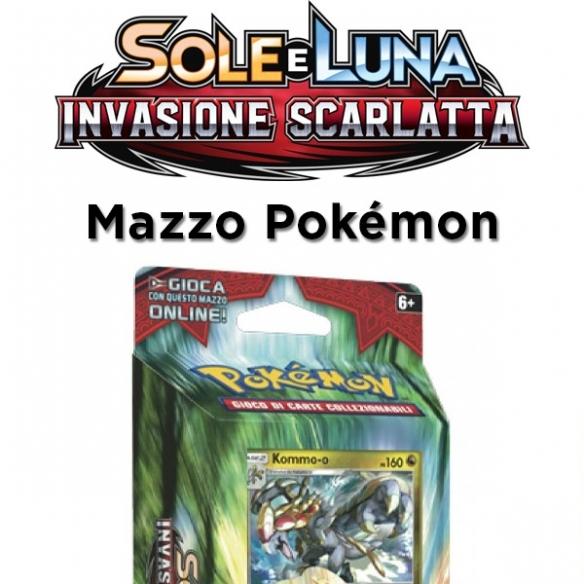Tuoni Roboanti Kommo O - Mazzo Sole E Luna Invasione Scarlatta + Penna Fantàsia (ITA) Mazzi Precostruiti