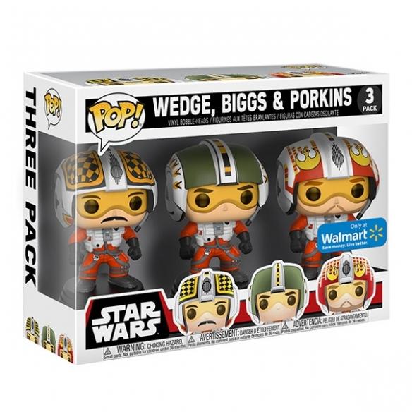 Funko Pop 3 Pack - Biggs, Wedge, & Porkins - Star Wars (Exclusive) Funko
