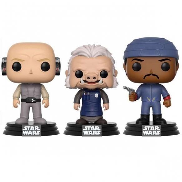 Funko Pop 3 Pack - Lobot, Ugnaught & Bespin Guard - Star Wars (Exclusive) (40 Star Wars) Funko