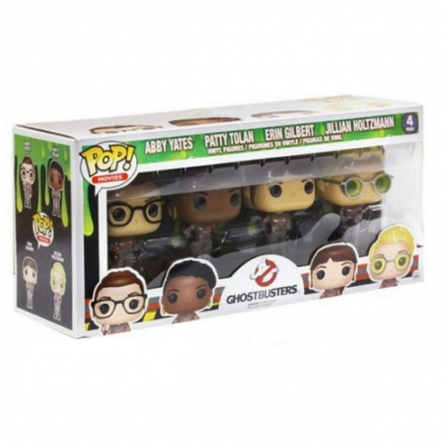 Funko Pop Movies 4 Pack - Abby Yates, Patty Tolan, Erin Gilbert & Jillian Holtzmann - GhostBusters 2016 Funko