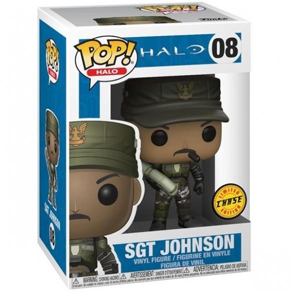 Funko Pop Games 08 - Sgt. Johnson - Halo (Chase) Funko