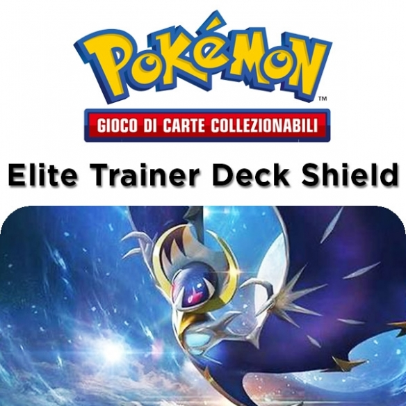 Lunala - Elite Trainer Deck Shield 2017 + Penna Fantàsia (ITA) Tin