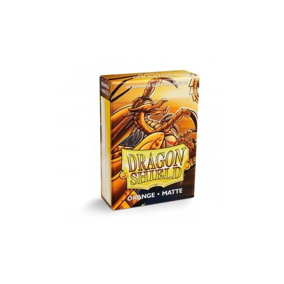 Dragon Shield - Matte Orange - Small Japanese (60 bustine) Bustine Protettive