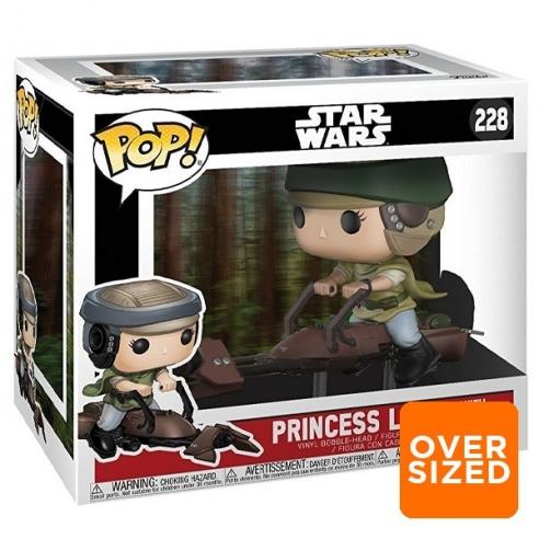 Funko Pop 229 - Princess Leia with Speeder Bike - Star Wars (40 Star Wars) (Oversized) Funko