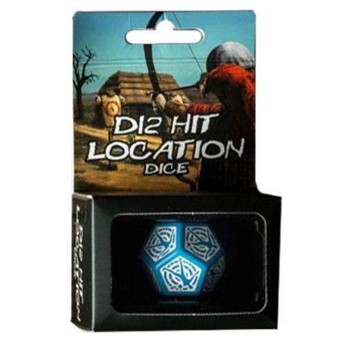 Q Workshop - Dado 12 facce - Hit Location Dice - Blu Dadi