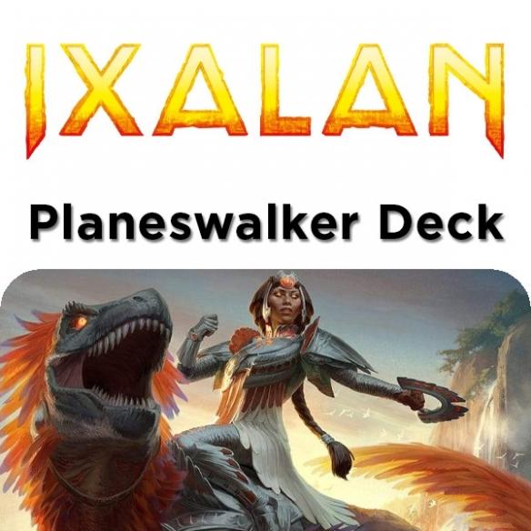 Ixalan - Huatli Dinosaur Knight - Planeswalker Deck + Penna Fantàsia (ENG) Mazzi Precostruiti