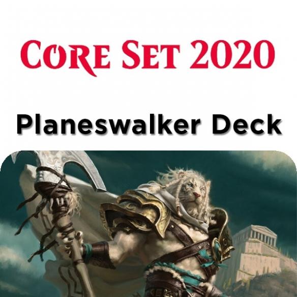 Core Set 2020 - Ajani - Planeswalker Deck + Penna Fantàsia (ENG) Mazzi Precostruiti