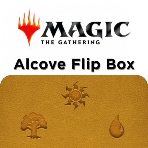 Ultra Pro - Alcove Flip Box - Gold for Magic Deck Box