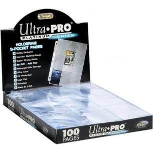Ultra Pro - Pagine 9 Tasche per Album ad Anelli (100 Pezzi) - Platinum Series Album
