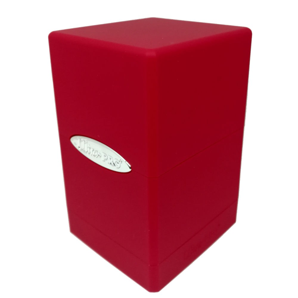 Ultra Pro Satin Tower Deck Box Red Toys & Games Games letsbookmypg.com