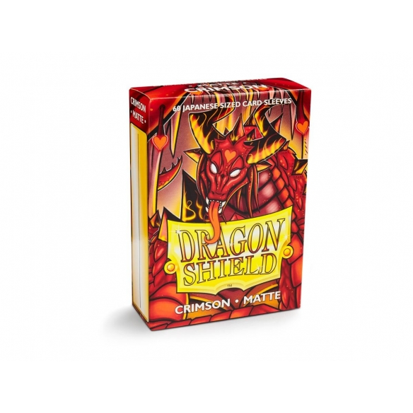 Dragon Shield - Matte Crimson - Small Japanese (60 bustine) Bustine Protettive