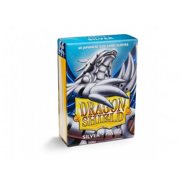 Dragon Shield - Matte Silver - Small Japanese (60 bustine) Bustine Protettive