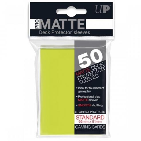 Ultra Pro - Matte - Bright Yellow - Standard (50 bustine) Bustine Protettive