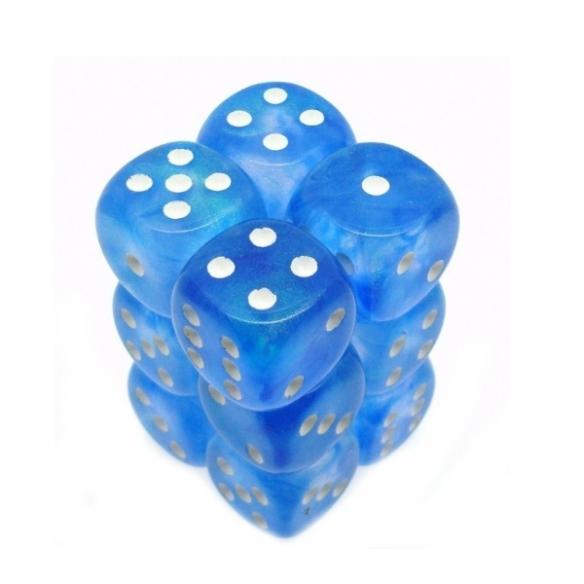 Chessex - Sky Blue w/white - Dadi 6 facce Dadi