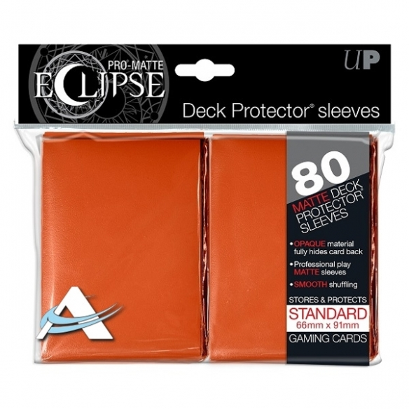 Ultra Pro - Eclipse - Matte Orange - Standard (80 bustine) Bustine Protettive