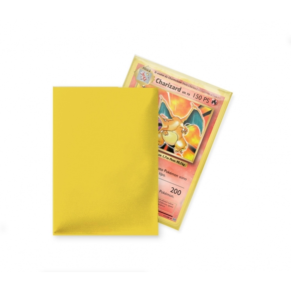 Ultra Pro - Eclipse - Matte Yellow - Standard (80 bustine) Bustine Protettive