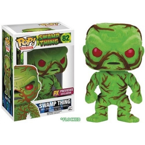 Funko Pop Heroes 82 - Swamp Thing - Swamp Thing (Flocked) Funko