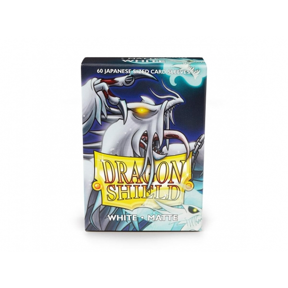Dragon Shield - Matte White - Small Japanese (60 bustine) Bustine Protettive