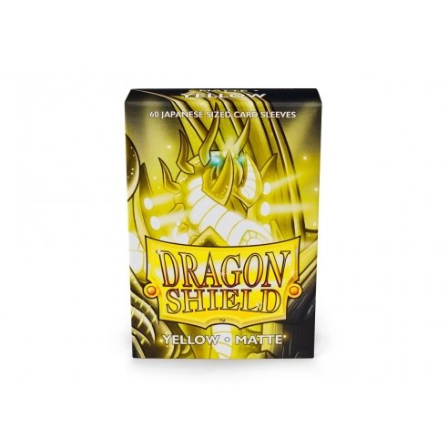 Dragon Shield - Matte Yellow - Small Japanese (60 bustine) Bustine Protettive